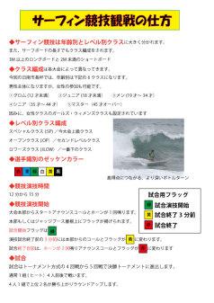 2016サーフィン大会観戦の仕方1